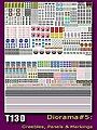 Generic Sci-Fi Diorama Decal Set- Greebles, Panels & Markings (8x10 Sheet) -- Decal - #130