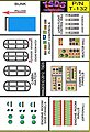 Vintage Flying Sub Decal Set for Aurora/Monogram -- Science Fiction Model Decal -- 1/60 -- #132