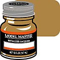 Model Master Brass No Buff Metallic 1/2 oz -- Hobby and Model Lacquer Paint -- #1417