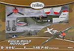 P-40 -- Snap Tite Plastic Model Airplane with Metal Body -- 1/48 Scale -- #650014t