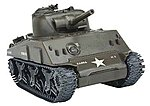 Classic M4A3 -- Snap Tite Plastic Model Tank -- 1/35 Scale -- #650022t