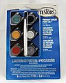 Acrylic Pots 6 Color Primary TRI -- Hobby and Model Paint Set -- #9001