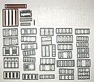 Windows, Doors & Parts Assortment (164) -- N Scale Model Railroad Building Accessory -- #2540