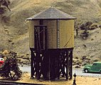 Wood Water Tank Kit -- N Scale Model Railroad Building -- #2600