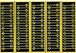 Assorted Warning Signs (48) -- N Scale Model Railroad Roadway Sign -- #2619