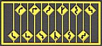 Left & Right Road Path Warning Signs (12) -- HO Scale Model Railroad Road Accessory -- #8254