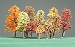 Autumn Grove Trees 2'' to 5'' (11) -- Model Railroad Tree -- #291