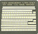 US Naval Deck Hatches -- Plastic Model Ship Accessory -- 1/350 Scale -- #3564