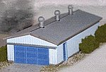 Corrugated Storage Building -- Z Scale Model Railroad Building -- #30012
