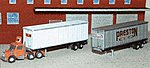 40' Trailer or Containers with 5 Different Decal Sets -- Z Scale Model Railroad Vehicle -- #30013