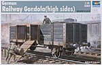 WWII German Army Gondola Railcar (High Sides) -- Plastic Model Kit -- 1/35 Scale -- #01517