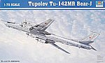 Tupolev Tu142MR Bear J Russian Bomber -- Plastic Model Airplane -- 1/72 Scale -- #01609