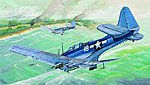SBD5/A24B Dauntless US Navy Aircraft -- Plastic Model Airplane -- 1/32 Scale -- #02243