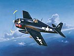 F6F-5 HELLCAT -- Plastic Model Airplane 1/32 Scale -- #02257