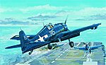 F6F5N Hellcat Fighter -- Plastic Model Airplane -- 1/32 Scale -- #02259