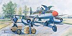 Visible Messerschmitt Me262A1a German Fighter -- Plastic Model Airplane -- 1/32 Scale-- #02261