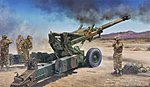 M198 Medium Towed Howitzer Early Version -- Plastic Model Military Vehicle -- 1/35 Scale -- #02306