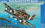 Savoia Marchetti 79-II Sparviero Italian Bomber -- Plastic Model Airplane -- 1/48 Scale -- #02817