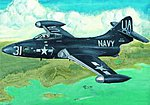 F9F2P Panther US Navy Fighter -- Plastic Model Airplane Kit -- 1/48 Scale -- #02833