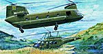 CH47A Chinook Helicopter -- Plastic Model Helicopter Kit -- 1/35 Scale -- #05104