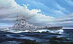 German Prinz Eugen Cruiser 1945 -- Plastic Model Military Ship Kit -- 1/350 Scale -- #05313