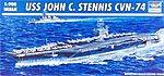 USS John C Stennis CVN74 Aircraft Carrier -- Plastic Model Military Ship -- 1/700 Scale -- #05733