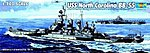 USS North Carolina BB55 Battleship -- Plastic Model Military Ship Kit -- 1/700 Scale -- #05734