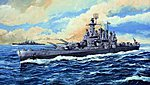 USS Washington BB56 Battleship -- Plastic Model Military Ship -- 1/700 Scale -- #05735