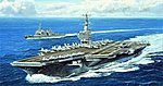 USS Nimitz CVN68 Aircraft Carrier 2005 -- Plastic Model Military Ship -- 1/700 Scale -- #05739