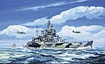 HMS Renown British Battle Cruiser 1942 -- Plastic Model Military Ship -- 1/700 Scale -- #05764