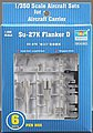 Mig29K Fulcrum D Set of 6 for Carrier Kuznetsov -- Plastic Model Airplane Kit -- 1/350 -- #06216