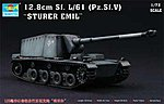 German 12.8cm Sf.L/61 (Pz.Sf.V) Sturer Emil Tank -- Plastic Model Kit -- 1/72 Scale -- #07210