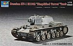 Russian KV1 Mod 1942 Tank (Simplified Turret) -- Plastic Model Kit -- 1/72 Scale -- #07234
