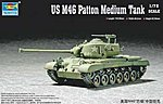 US M46 Patton Medium Tank -- Plastic Model Military Vehicle Kit -- 1/72 Scale -- #07288
