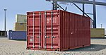20ft Shipping/Storage Container -- Plastic Model Military Diorama -- 1/35 Scale -- #1029