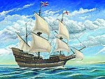 Mayflower Sailing Ship -- Plastic Model Sailing Ship Kit -- 1/60 Scale -- #1201