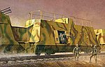 WWII German Kommandowagen Troop Transport Railcar -- Plastic Model Kit -- 1/35 Scale -- #1510