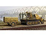 German SdKfz 7/1 Halftrack with Gun and Supply Trailer -- Plastic Model Kit -- 1/35 Scale -- #1524
