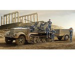 German SdKfz 7/2 Halftrack with Gun and Supply Trailer -- Plastic Model Kit -- 1/35 Scale -- #1525
