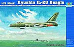 Ilyushin IL28 Beagle Aircraft -- Plastic Model Airplane Kit -- 1/72 Scale -- #1604