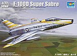 F100D Super Sabre Attack Fighter Aircraft -- Plastic Model Airplane Kit -- 1/72 Scale -- #1649