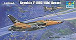 F105G Thunderchief Wild Weasel Aircraft -- Plastic Model Airplane Kit -- 1/32 Scale -- #2202
