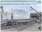 WWII German Army Type SSyms 80 Heavy Armor Transport Flatcar -- Plastic Model Kit -- 1/35 -- #221
