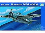 F4F4 Wildcat Fighter Aircraft -- Plastic Model Airplane Kit -- 1/32 Scale -- #2223