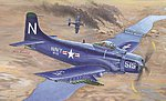 A-1D AD-4 Skyraider Aircraft -- Plastic Model Airplane Kit -- 1/32 Scale -- #2252