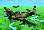 A1J AD7 Skyraider Aircraft -- Plastic Model Airplane Kit -- 1/32 Scale -- #2254