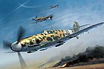 Messerschmitt Bf 109G-2/Trop German Fighter -- Plastic Model Airplane Kit -- 1/32 Scale -- #22
