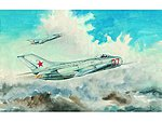Mig19S Farmer C Fighter Aircraft -- Plastic Model Airplane Kit -- 1/48 Scale -- #2803