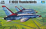 F100D Thunderbirds USAF Aircraft -- Plastic Model Airplane Kit -- 1/48 Scale -- #2822