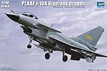 PLAAF J10A Vigorous Dragon Fighter Aircraft -- Plastic Model Airplane Kit -- 1/48 Scale -- #2841